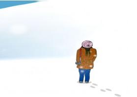 눈위에 서서