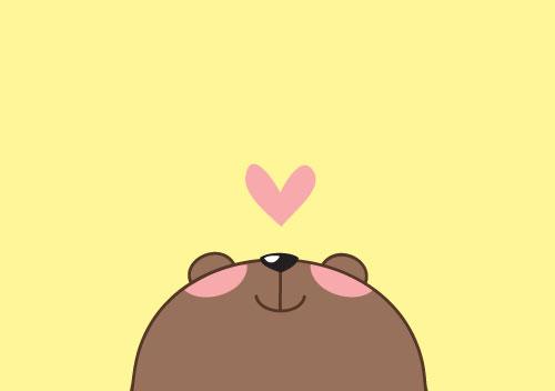 사랑에 빠진 곰